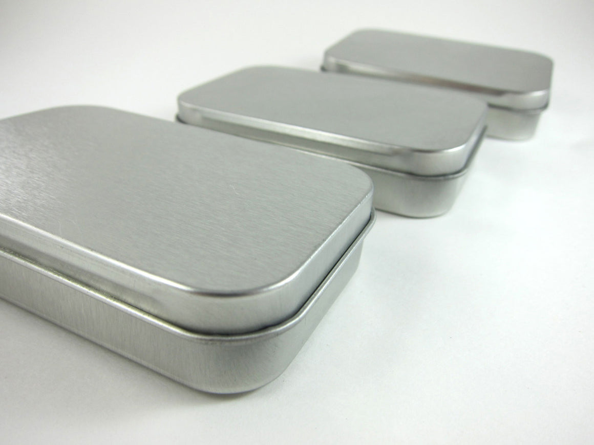 Steel Metal Tins - Hinged Rectangular Gift Boxes Boxes - Snuggly Monkey