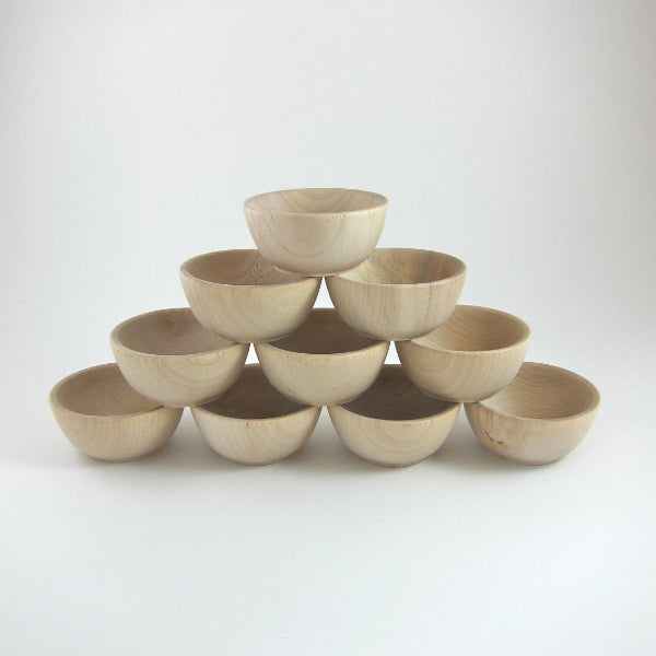 Small Unfinished Wood Bowls