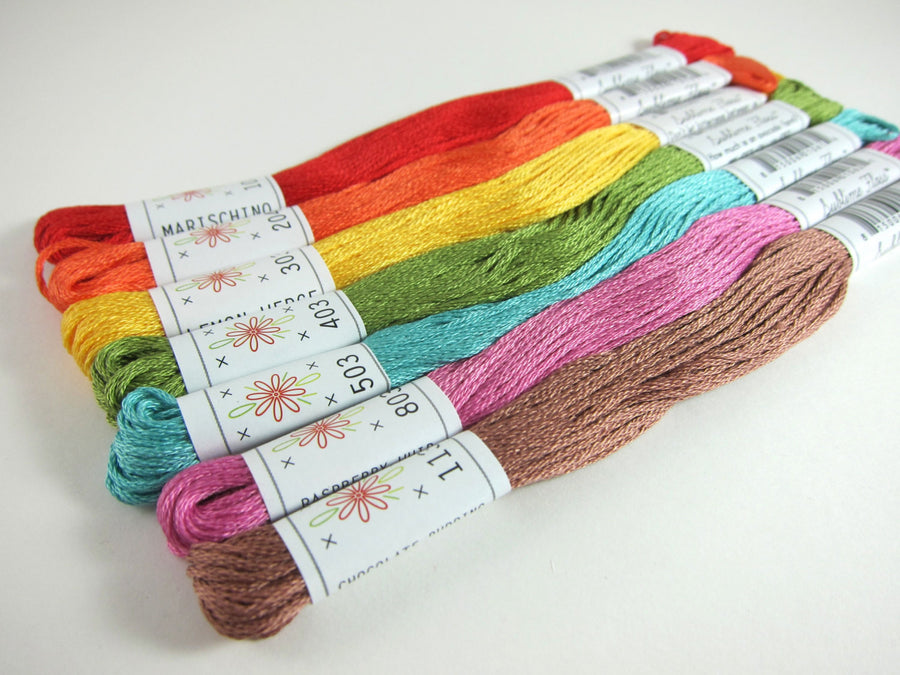 Embroidery Floss Set - Sublime Stitching Fruit Salad Palette Floss - Snuggly Monkey