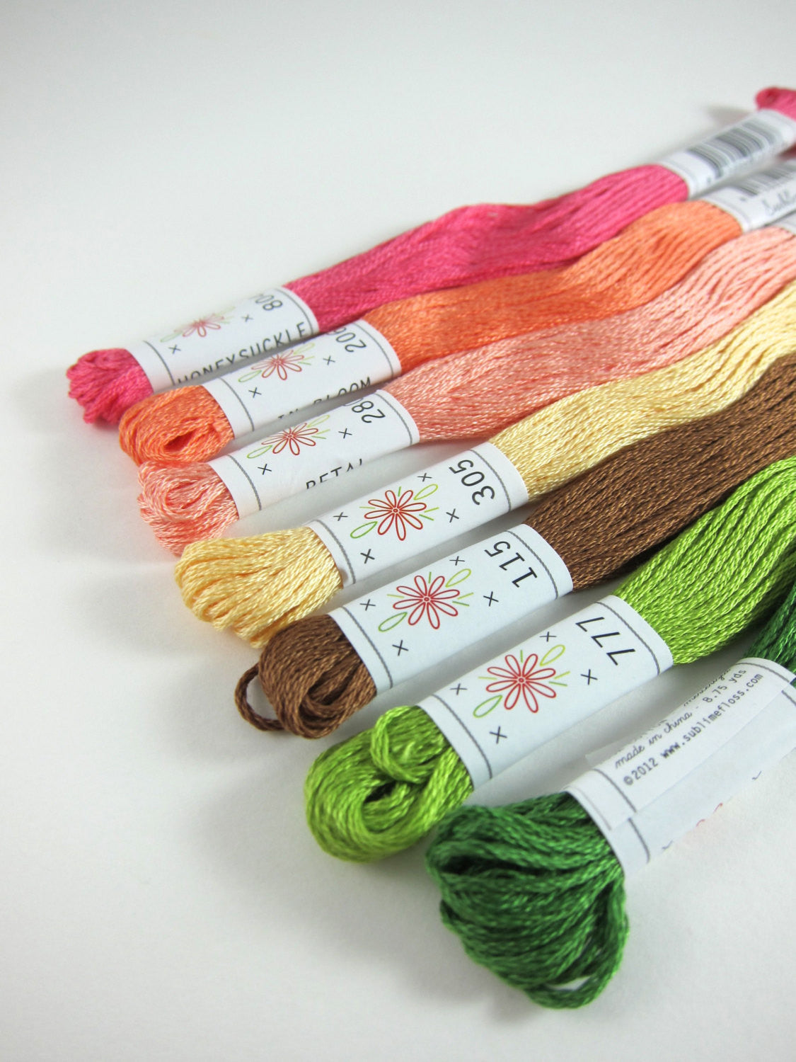Embroidery Floss Set - Sublime Stitching Flower Box Palette Floss - Snuggly Monkey