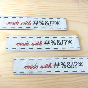 Made with #%&!?* Woven Labels Labels - Snuggly Monkey