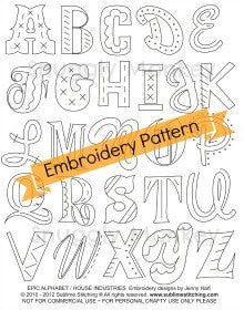 Sublime Stitching Epic Alphabet | Alphabet Iron On Embroidery Design