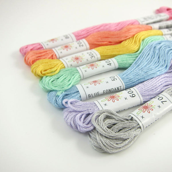 Pastel Embroidery Floss Set - Sublime Frosting Palette