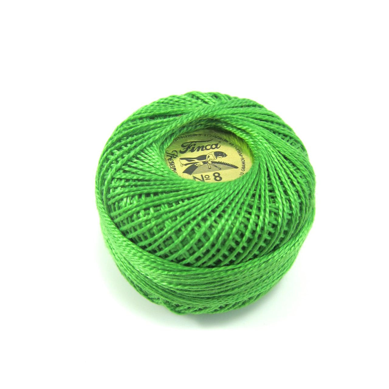 Kelly Green Finca Pearl Cotton Thread (4643) Perle Cotton - Snuggly Monkey