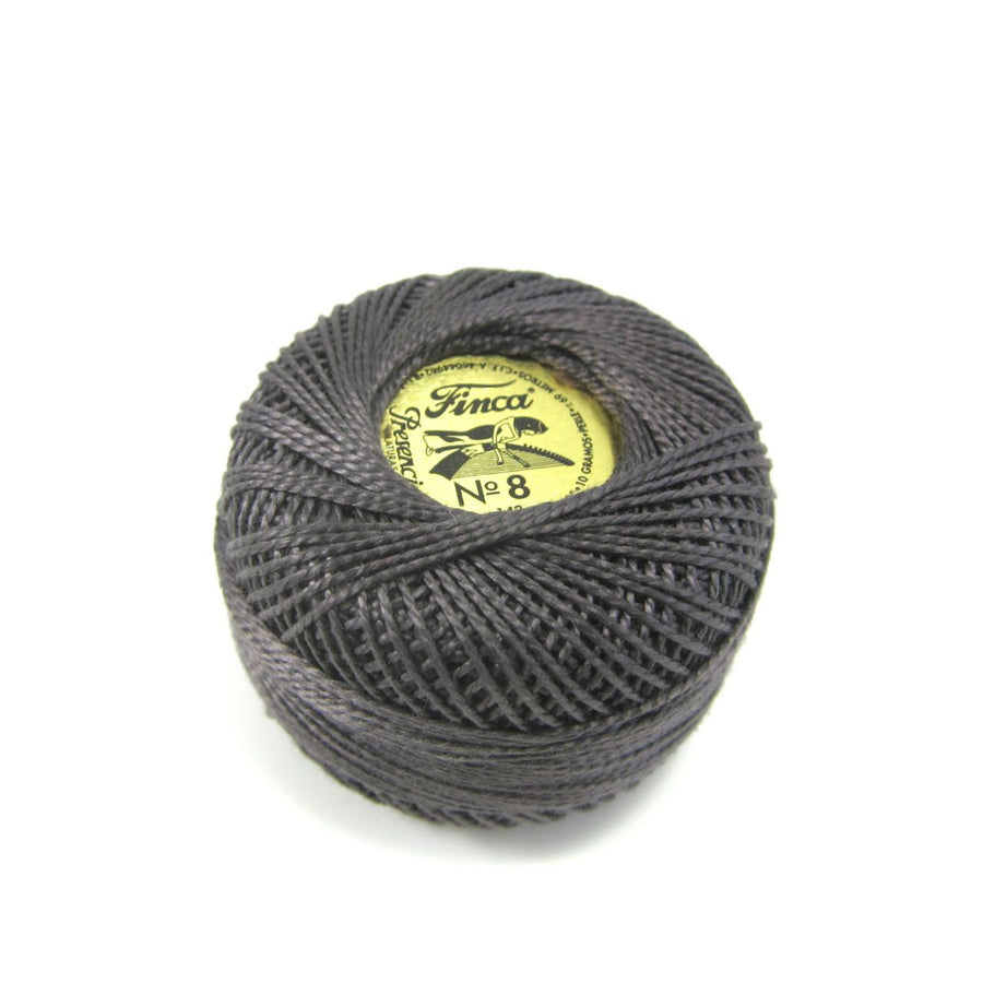 Almost Black Finca Perle Cotton Thread (8756)