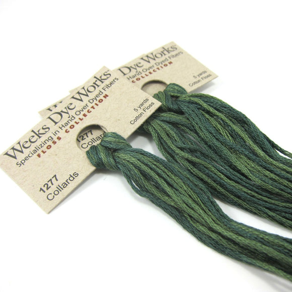 Weeks Dye Works Hand Over Dyed Embroidery Floss - Collards (1277)