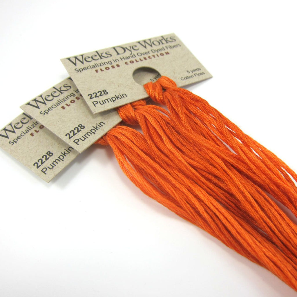 Weeks Dye Works Hand Over Dyed Embroidery Floss - Pumpkin (2228)