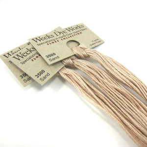 Weeks Dye Works Hand Over Dyed Embroidery Floss - Sand (3500) Floss - Snuggly Monkey