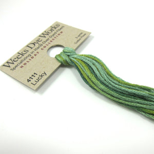 Weeks Dye Works Hand Over Dyed Embroidery Floss - Lucky (4111)
