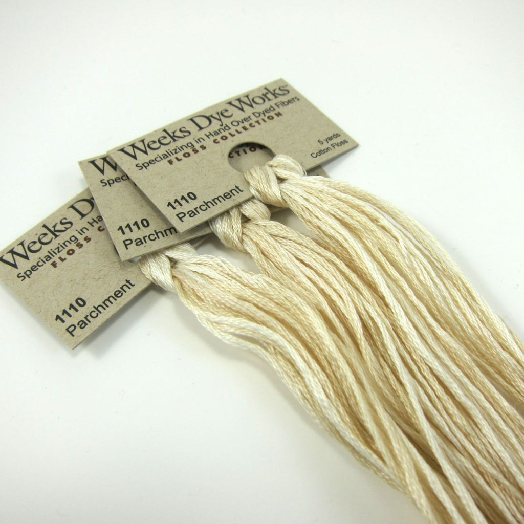 Weeks Dye Works Hand Over Dyed Embroidery Floss - Parchment (1110)