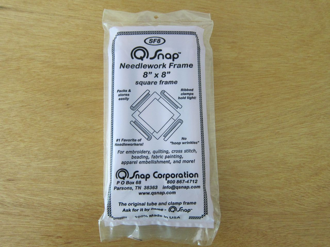 "8""x8"" Q-Snap Needlework Frame Tools - Snuggly Monkey"