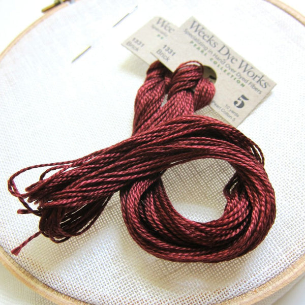 Weeks Dye Works Pearl Cotton - Brick (Size 5) Perle Cotton - Snuggly Monkey