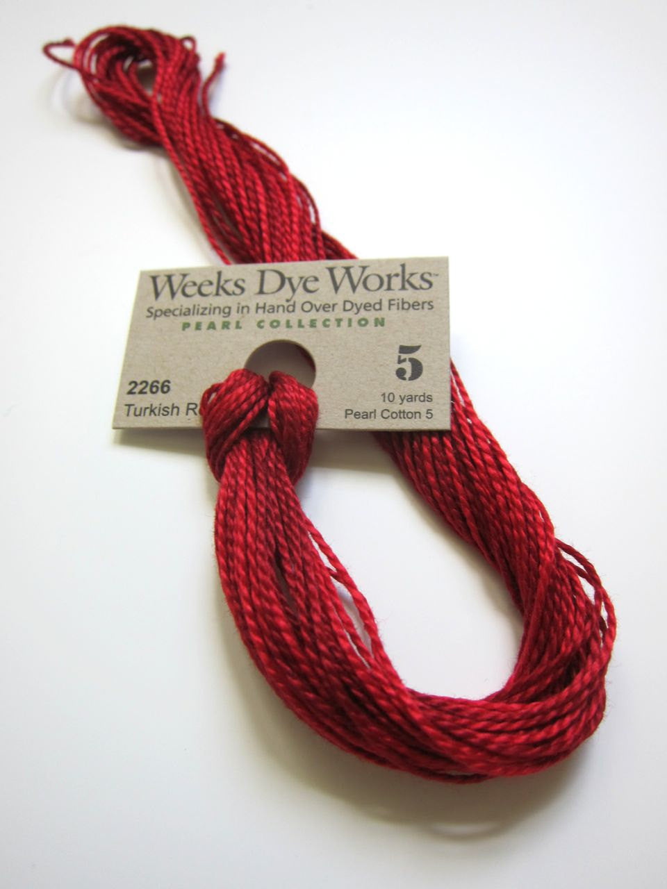 Turkish Red Weeks Dye Works Hand Over-Dyed Perle Cotton - Size 5 Perle Cotton - Snuggly Monkey