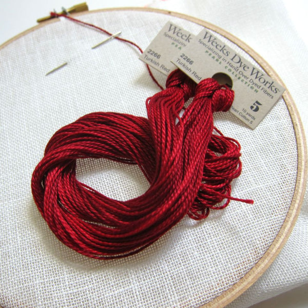 Turkish Red weeks dye works perle cotton