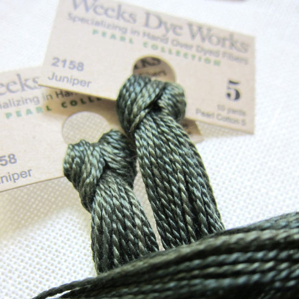 Weeks Dye Works Hand Over-Dyed Pearl Cotton - Size 5 Juniper