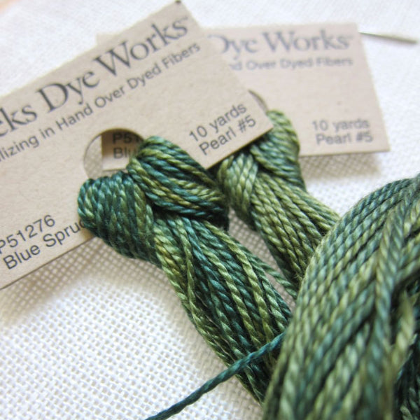 Weeks Dye Works Pearl Cotton - Size 5 Blue Spruce Perle Cotton - Snuggly Monkey