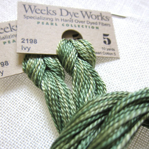 Pearl Cotton Thread - Weeks Dye Works Size 5 Ivy