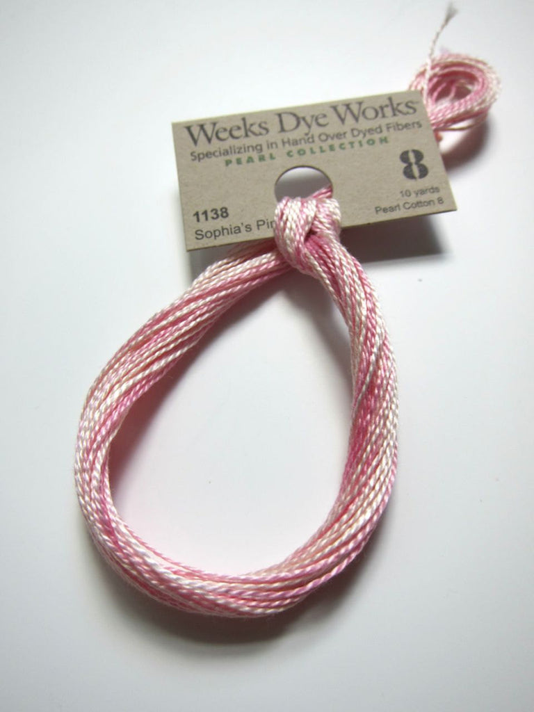 Weeks Dye Works Hand Over-Dyed Perle Cotton - Size 8 Sophia's Pink