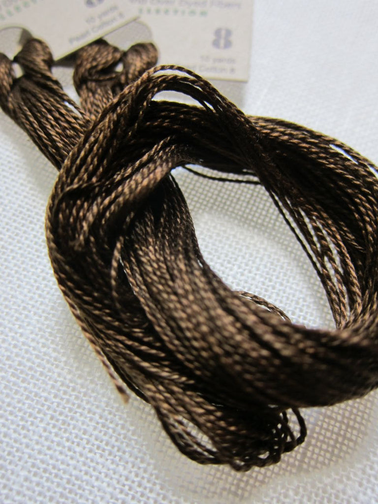 Weeks Dye Works Hand Over-Dyed Pearl Cotton - Size 8 Chestnut