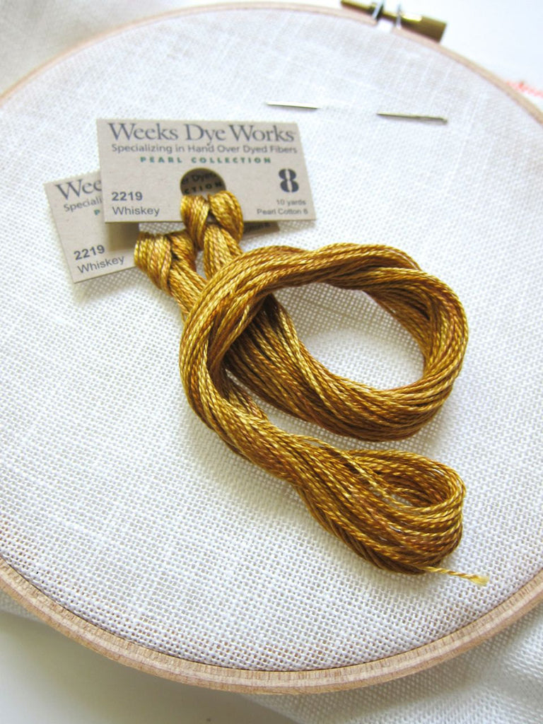 Weeks Dye Works Hand Over-Dyed Perle Cotton - Size 8 Whiskey