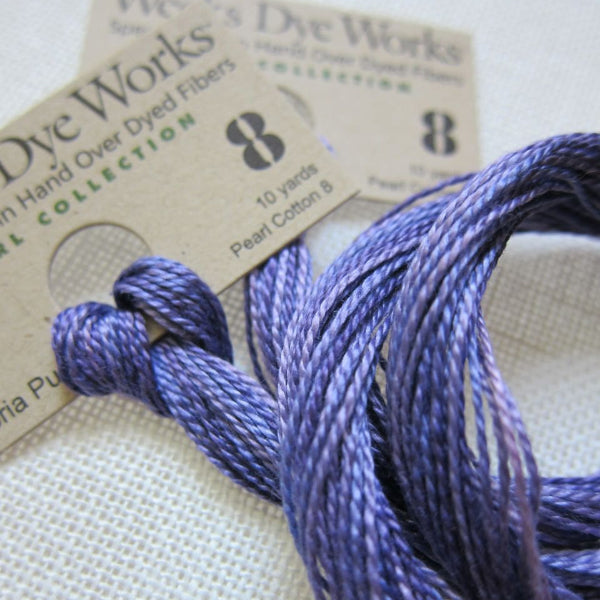 Peoria Purple Weeks Dye Works Perle Cotton - Size 8 Perle Cotton - Snuggly Monkey
