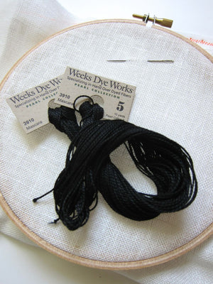 Weeks Dye Works Hand Over-Dyed Pearl Cotton - Size 5  Mascara Perle Cotton - Snuggly Monkey