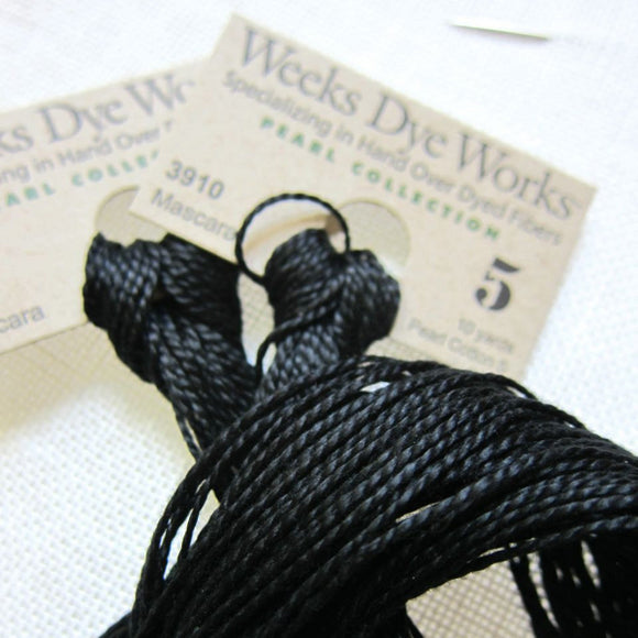 Weeks Dye Works Hand Over-Dyed Pearl Cotton - Size 5  Mascara