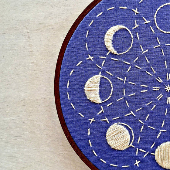 cozyblue Embroidery Pattern :: Lunar Blossom