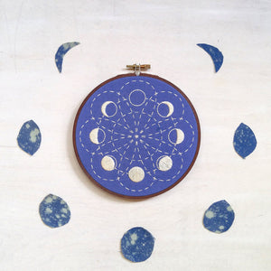 cozyblue Embroidery Pattern :: Lunar Blossom Patterns - Snuggly Monkey