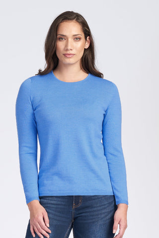 Classic Crew Neck Jumper - Cornflower