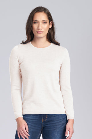 Classic Crew Neck Jumper - Natural - Size 10/XS
