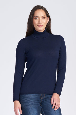 Classic Polo Neck Jumper - Navy
