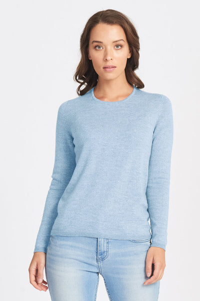 Classic Crew Neck Jumper - Chambray - Size 16/L