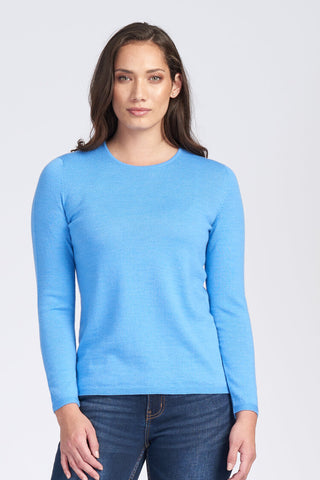 Classic Crew Neck Jumper - Sky - Size 12/S