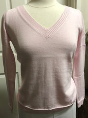 Long Sleeve V Neck Top - Coconut Ice