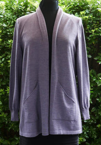 Long Open Front Cardigan (18/XL) - Thistle