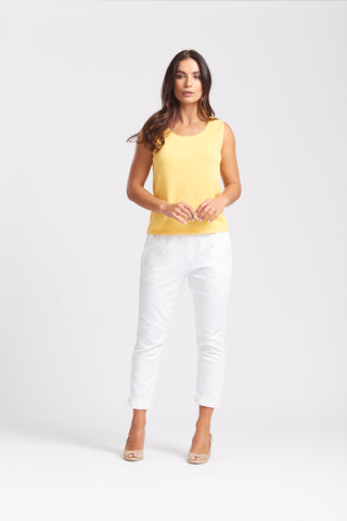 Sleeveless Shell Top - Yellow