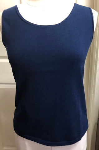 Sleeveless Shell Top - Navy 1/2 PRICE