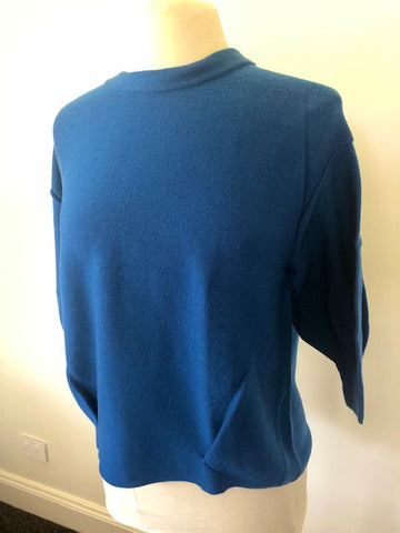 3/4 Tulip Sleeve Pleat Front Top - Bermuda Blue