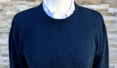 Moss Stitch Possum Jumper - Marine