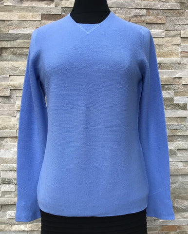 Garter Stitch Jumper - Sky