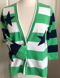 Stars & Stripes Cardigan - Green