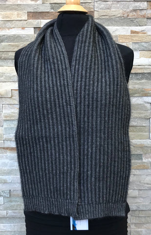 Possum Scarf, Ribbed - Grey