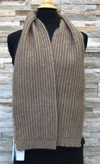 Possum Scarf, Ribbed - Mocha - 1/2 PRICE