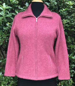 Shaped Possum Zip Jacket (L) - Rose