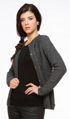 Ribbed Possum Cardigan - Grey
