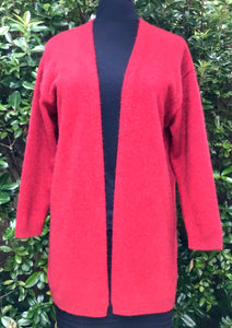 Open Front Long Possum Cardigan - Rata
