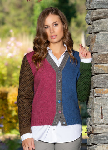 Wool/Possum Long Stocking Cardigan