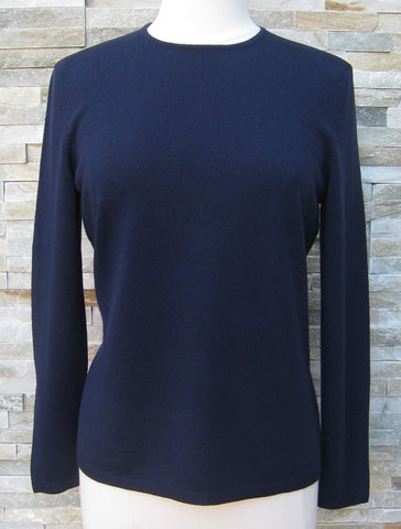 Classic Crew Neck Jumper - Navy