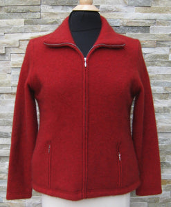 Shaped Possum Zip Jacket - Red
